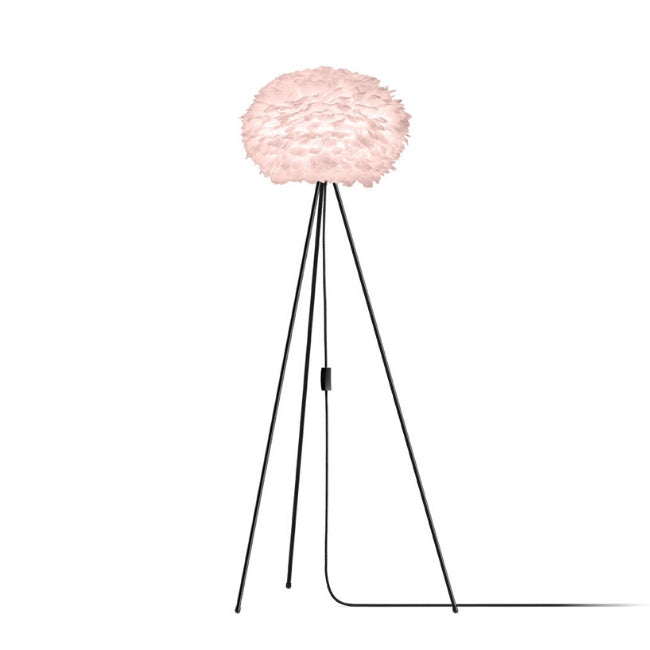Umage Eos Pink (Medium) - Floor Lamp (Black Stand)