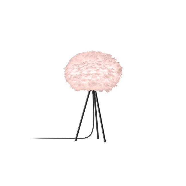 Eos Pink (Medium) - Table Lamp (Black Stand)