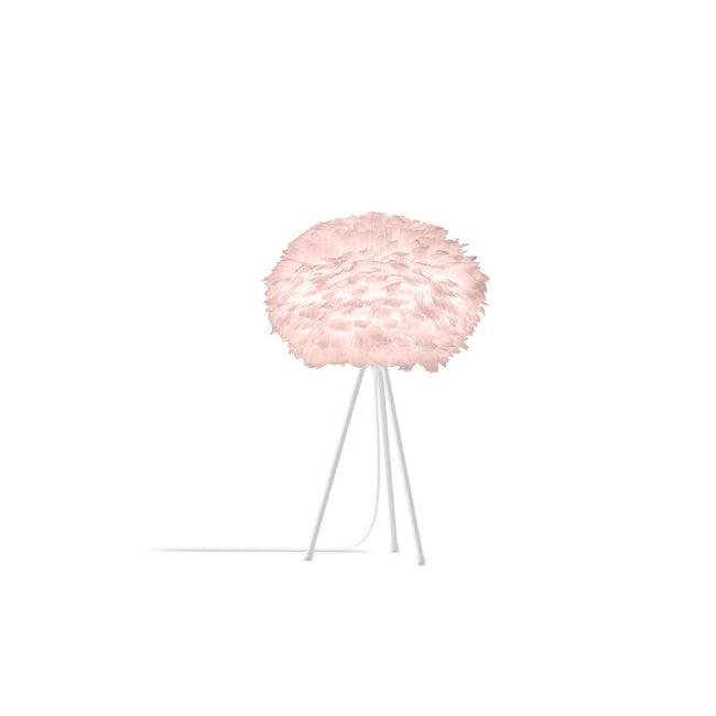 Eos Pink (Medium) - Table Lamp (White Stand)