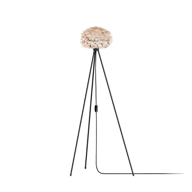 Eos Brown (Mini) - Floor Lamp (Black Stand)
