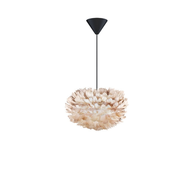 Eos Feather Lamp Shade - Brown - Mini