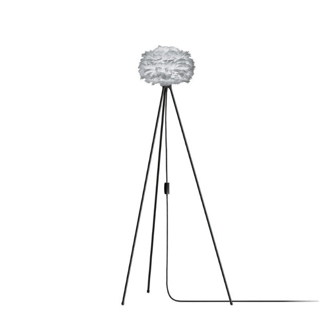 Umage Eos Grey (Mini) - Floor Lamp (Black Stand)