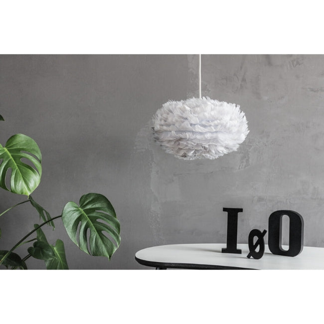Eos Feather Lamp Shade - Grey - Mini