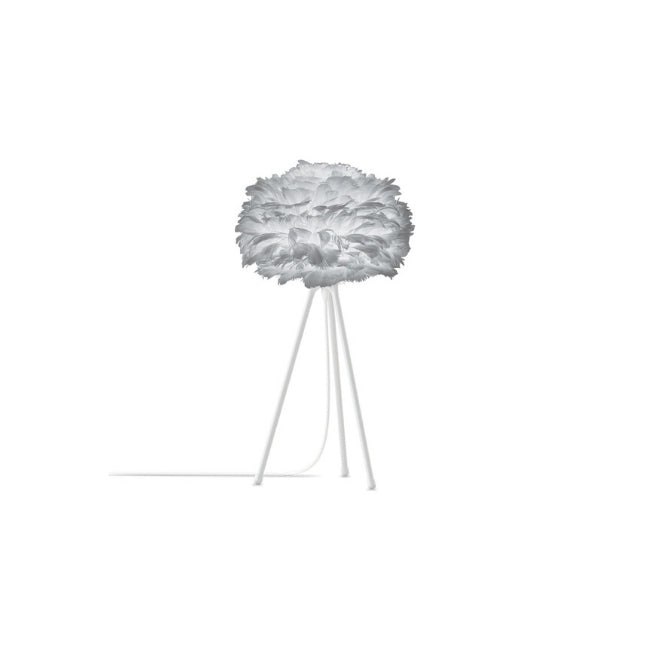 Eos Light Grey (Mini) - Table Lamp (White Stand)