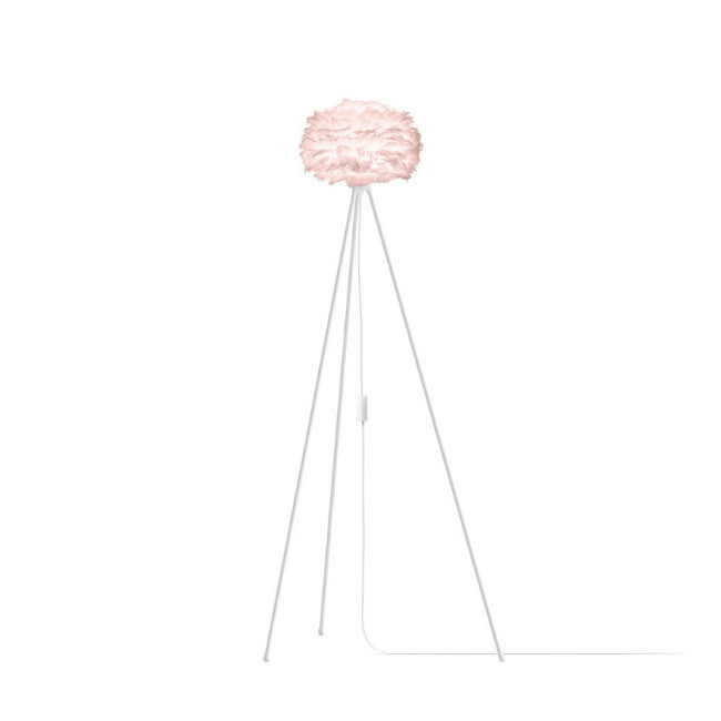Eos Pink (Mini) - Floor Lamp (White Stand)