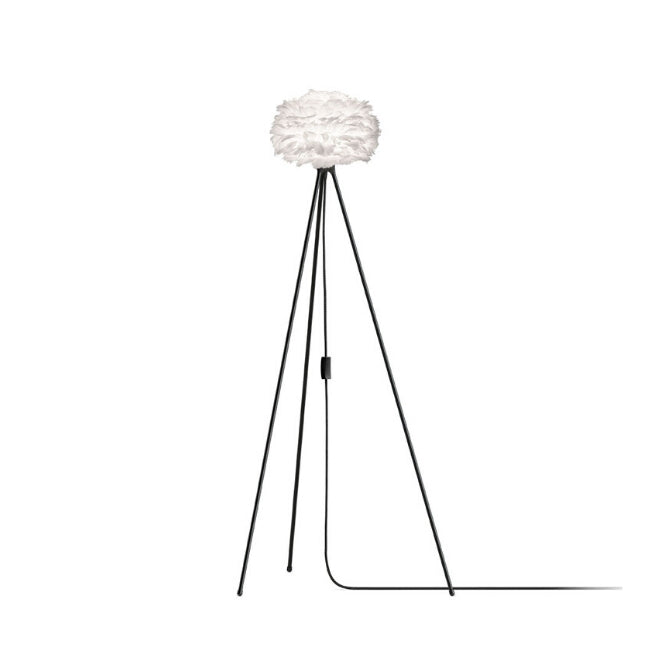Umage Eos White (Mini) - Floor Lamp (Black Stand)