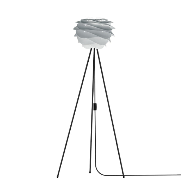 Umage Carmina Misty Grey (Mini) - Floor Lamp (Black Stand)