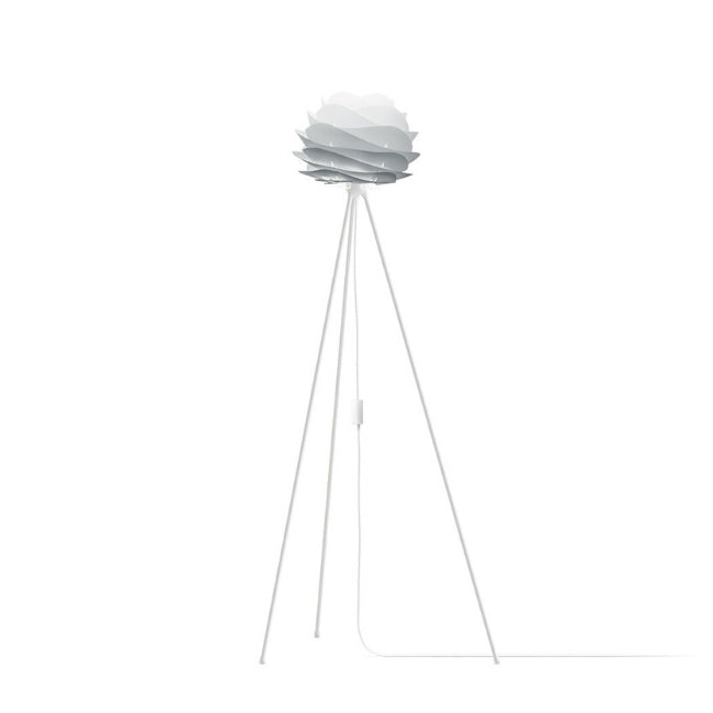 Carmina Mistry Grey (Mini) - Floor Lamp (White Stand)