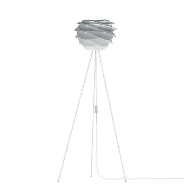 Umage Carmina Misty Grey (Mini) - Floor Lamp (White Stand)