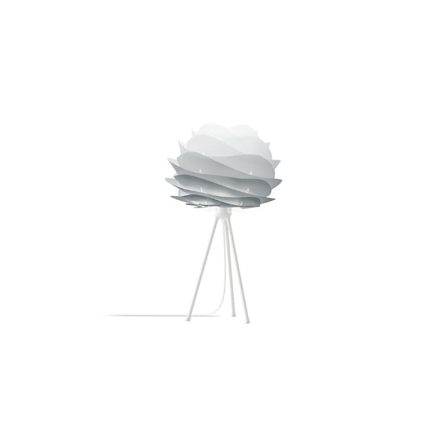 Carmina Misty Grey (Mini) - Floor Lamp (Black Stand)