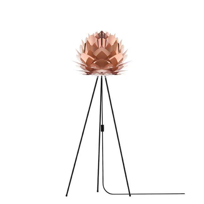 Silvia Copper (Medium) - Table Lamp (Black Stand)