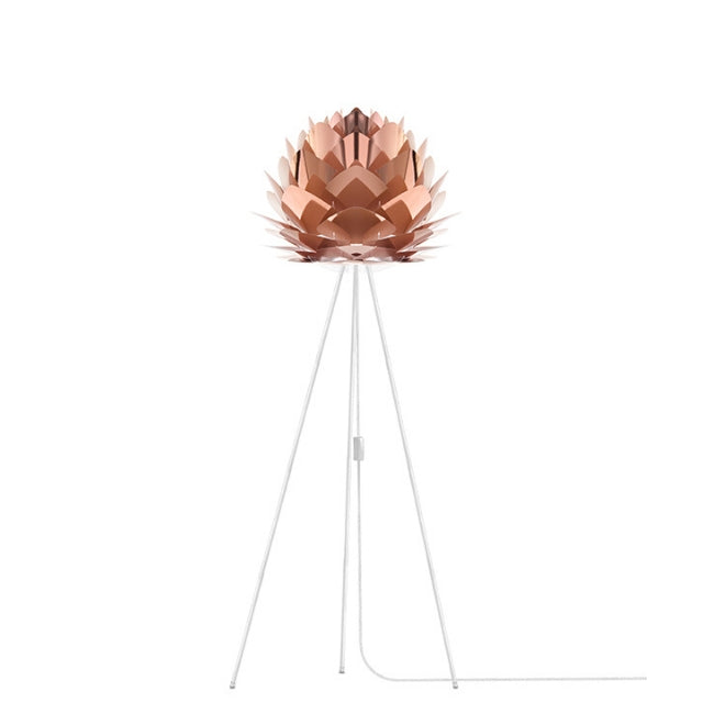 Umage Silvia Copper (Medium) - Floor Lamp (White Stand)