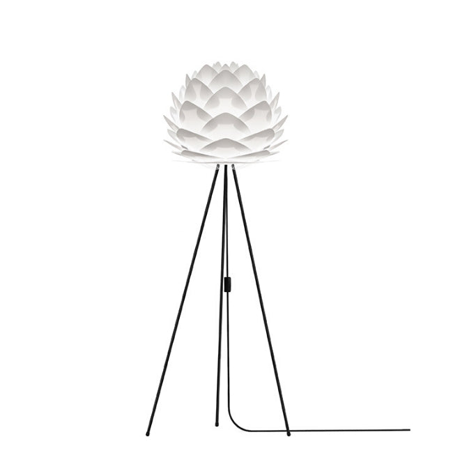 Umage Silvia White (Medium) - Floor Lamp (Black Stand)