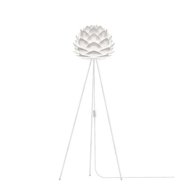 Silvia White (Mini) Floor Lamp (White Stand)