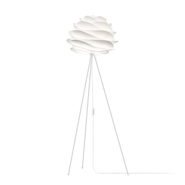 Carmina White (Medium) - Floor Lamp (White Stand)