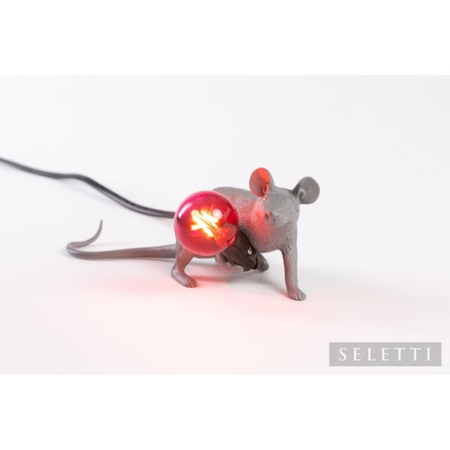 Mouse Lamp - Lying Down - Grey