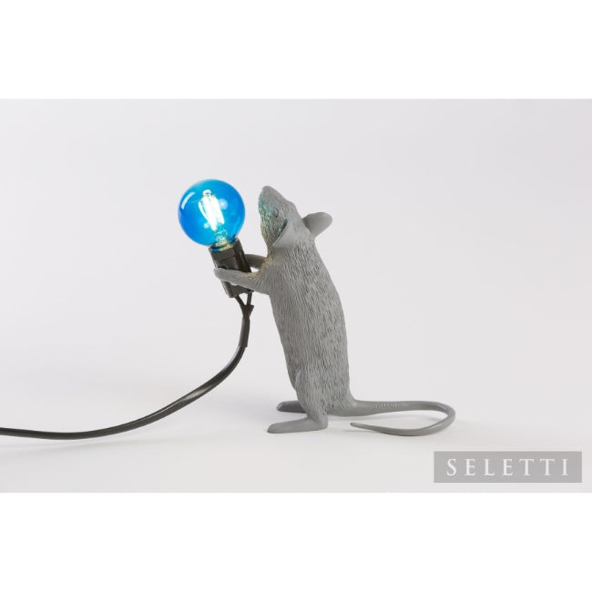 Seletti Mouse Lamp - Standing - Grey