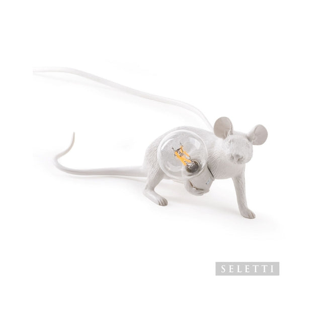 Seletti Mouse Lamp - Lying Down - White