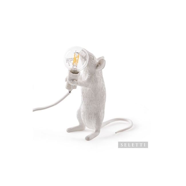 Seletti Mouse Lamp - Standing - White