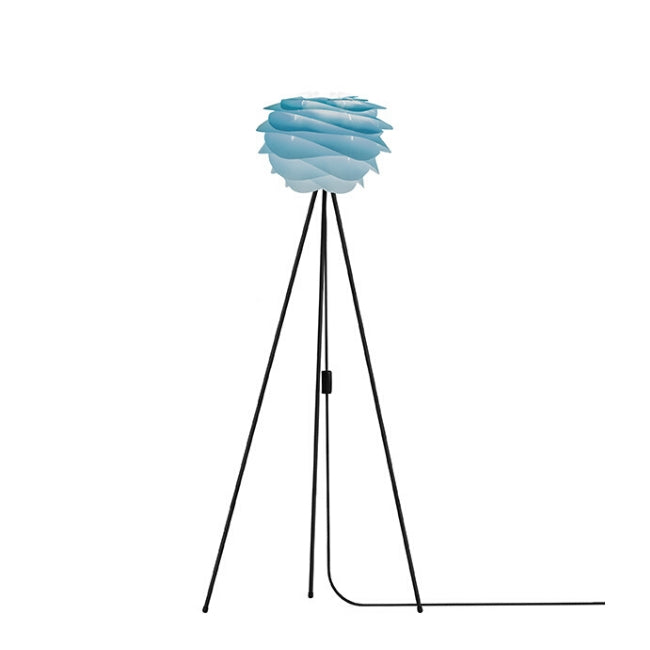 Carmina Azure (Mini) - Floor Lamp (Black Stand)