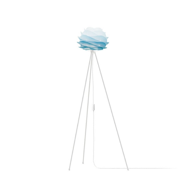 Carmina Azure (Mini) - Floor Lamp (White Stand)