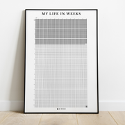 4k Weeks Poster™ (Premium Framed Version)