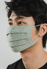 Load image into Gallery viewer, GREY WAFFLE FACE MASK - 2 Ply Cotton Mask