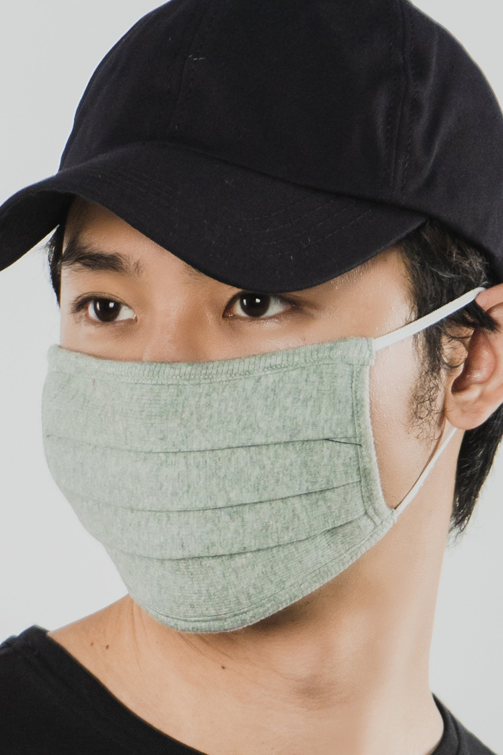 GREY WAFFLE FACE MASK - 2 Ply Cotton Mask