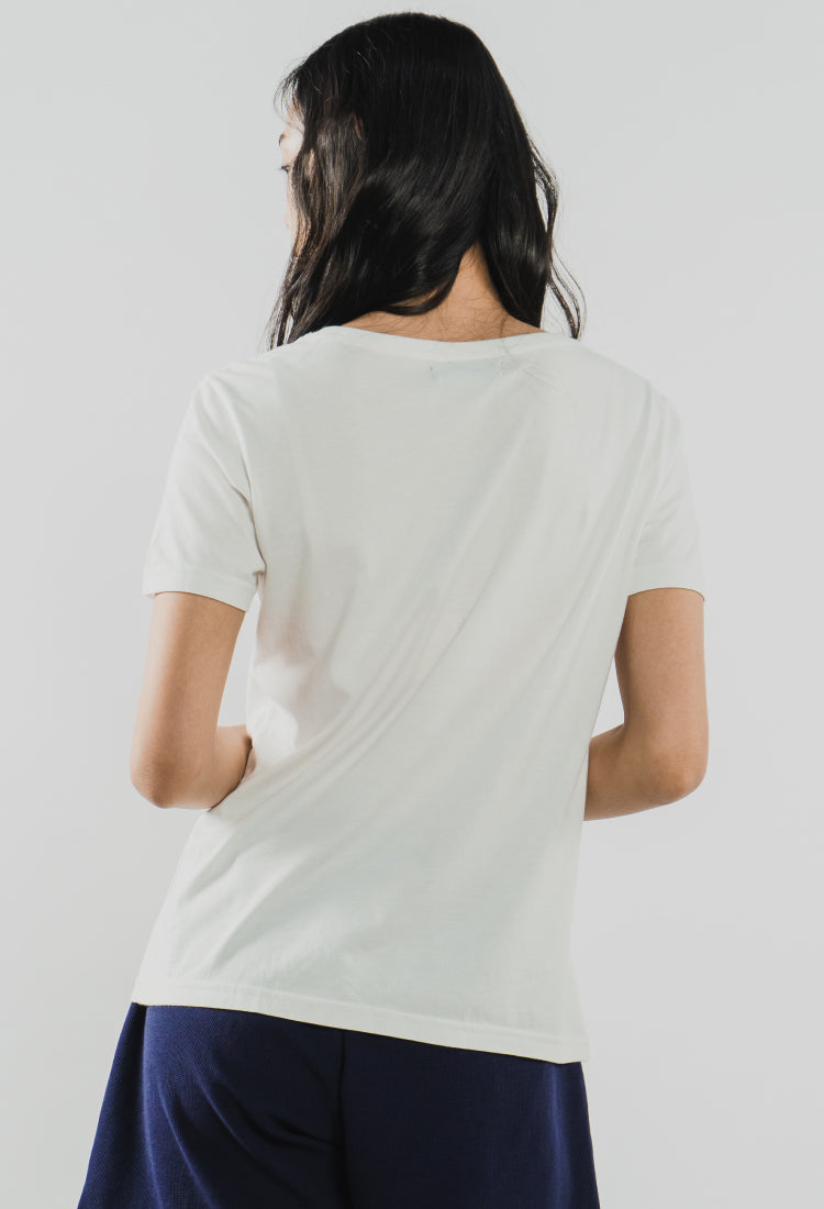 Load image into Gallery viewer, OFF WHITE GEORGIA - The Airy Pocket Tee