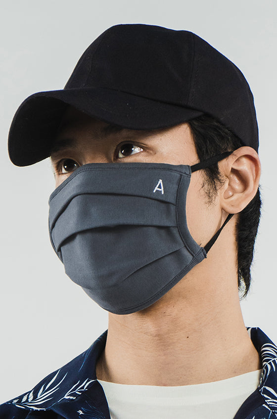 GREY FACE MASK - 2 Ply Cotton Mask