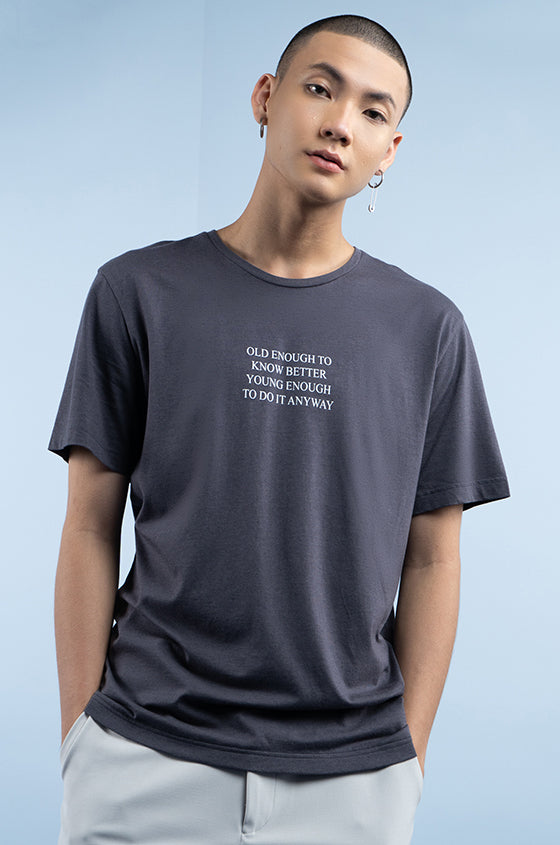Load image into Gallery viewer, GREY SKIVE - The Airy Graphic Tee