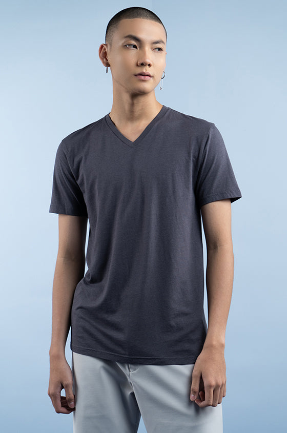 GREY TRIGE - The Airy V-Neck Tee