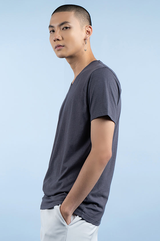 Load image into Gallery viewer, GREY TRIGE - The Airy V-Neck Tee