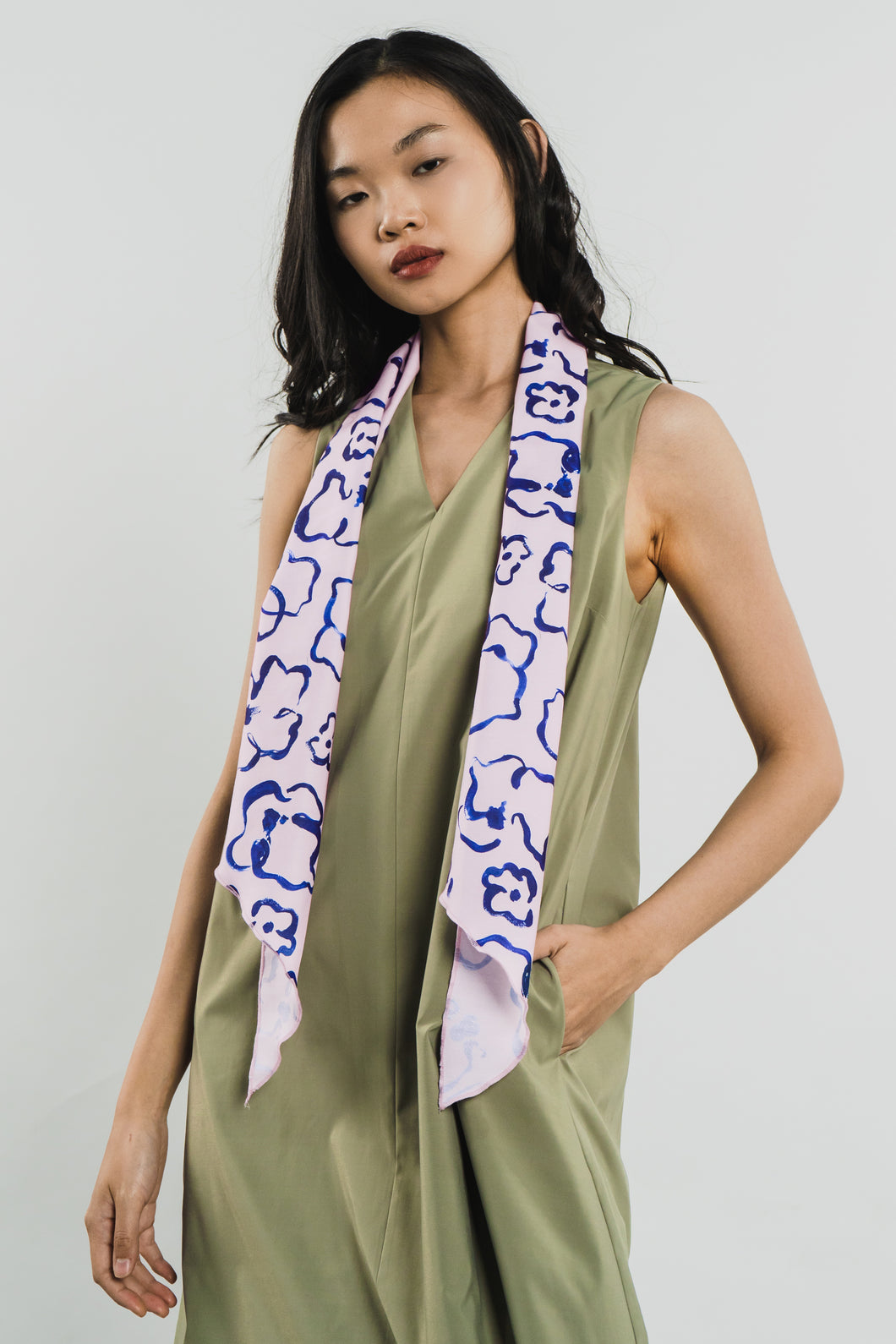 PINK SCARF - The Lyocell Printed Scarf