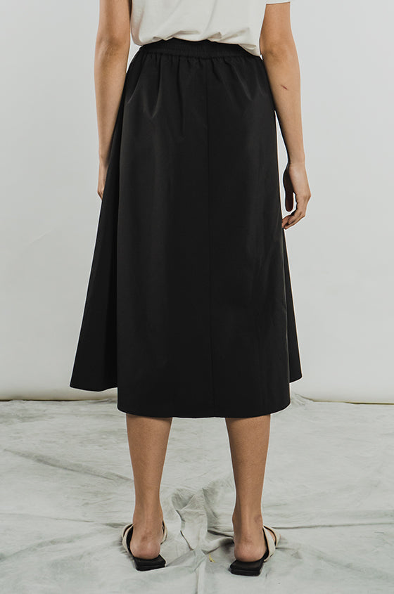 Load image into Gallery viewer, BLACK RUBY - The Midi Skirt