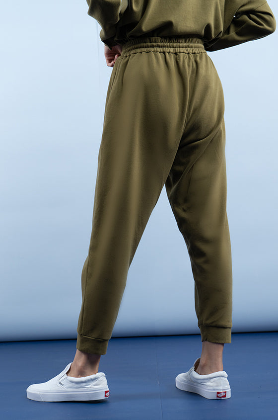 MILITARY GREEN BORAS - The Premium Weight Jogger