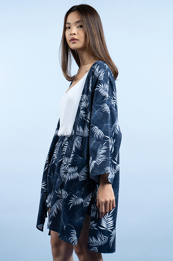 Load image into Gallery viewer, NAVY DALIA - The Lyocell Kimono