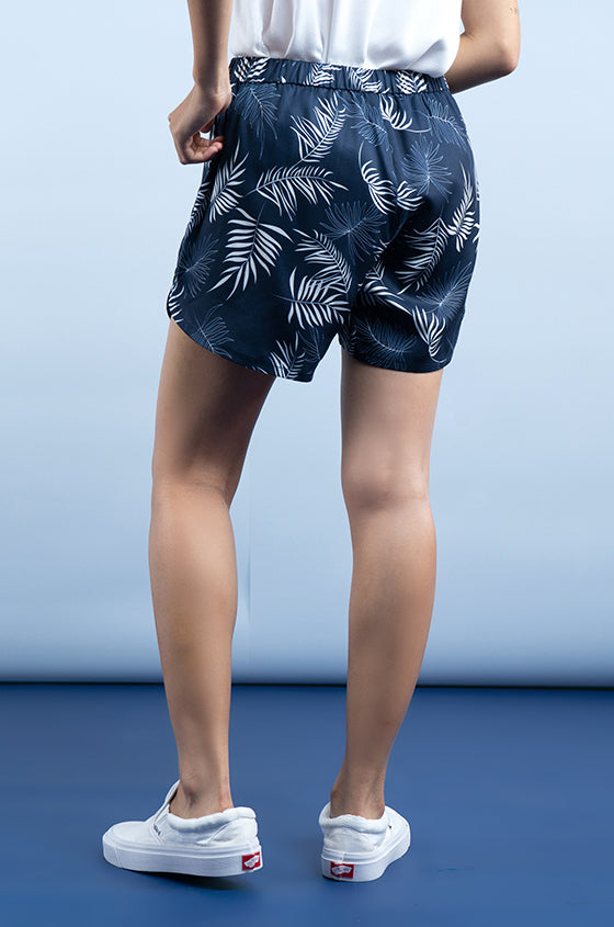 Load image into Gallery viewer, NAVY JEMTIA -The Cozy Lyocell Shorts