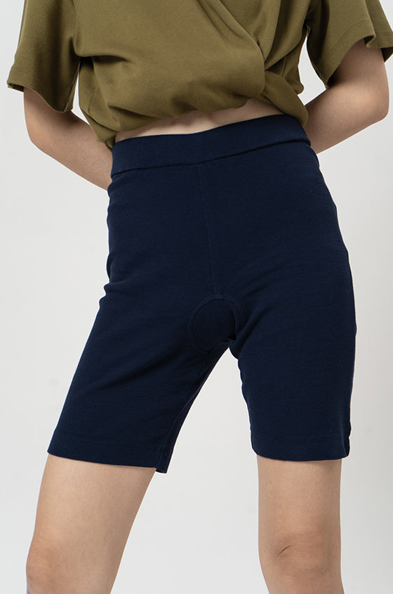 Load image into Gallery viewer, NAVY KALMAR - The Waffle Tight Shorts