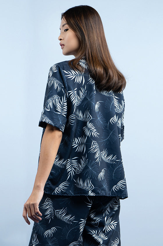 Load image into Gallery viewer, NAVY LUND - The Lyocell Cuban Shirt