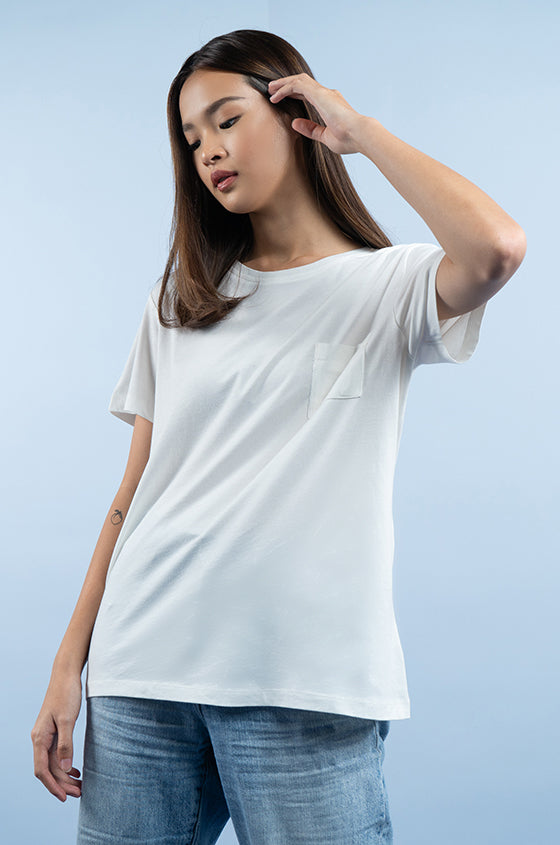OFF-WHITE JULES TEE - The Airy Pocket Tee