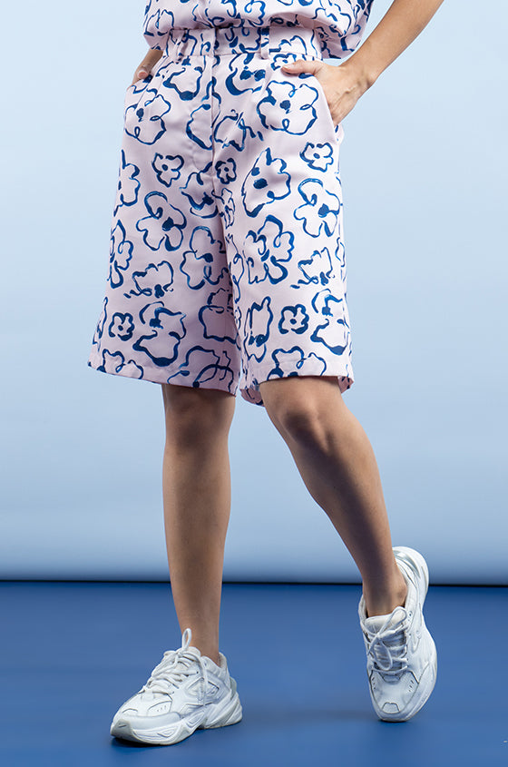 Load image into Gallery viewer, PINK NANTES - The Lyocell Bermuda Shorts