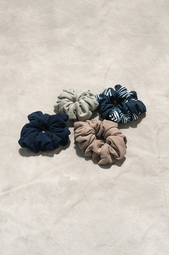 Load image into Gallery viewer, SCRUNCHIES SET B - Set of 3 Waffle Scrunchies