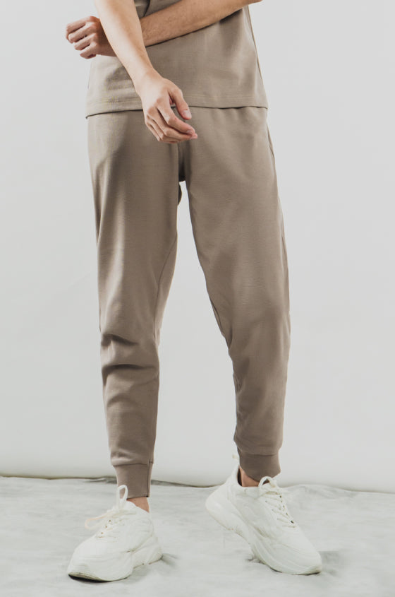 TAUPE BRIXTON JOGGER - The Waffle Jogger