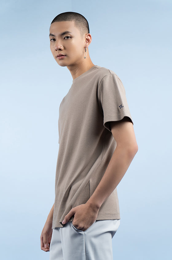 TAUPE ALEX  - The Premium Weight Tee