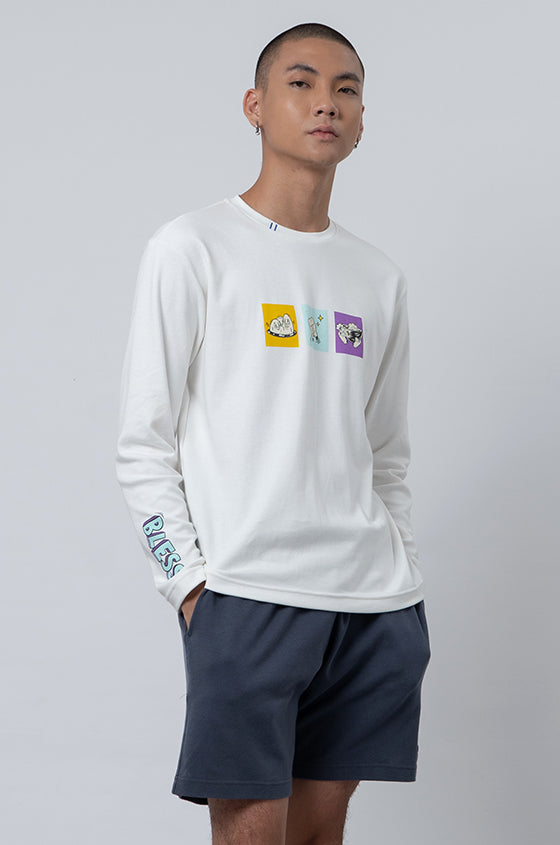 Load image into Gallery viewer, WHITE MUKLAY POLAND - The Graphic Sweatshirt