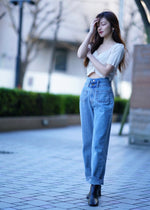 Double belt denim