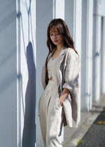 Over linen double jacket