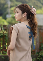 Nosleeve asymmetry Dress