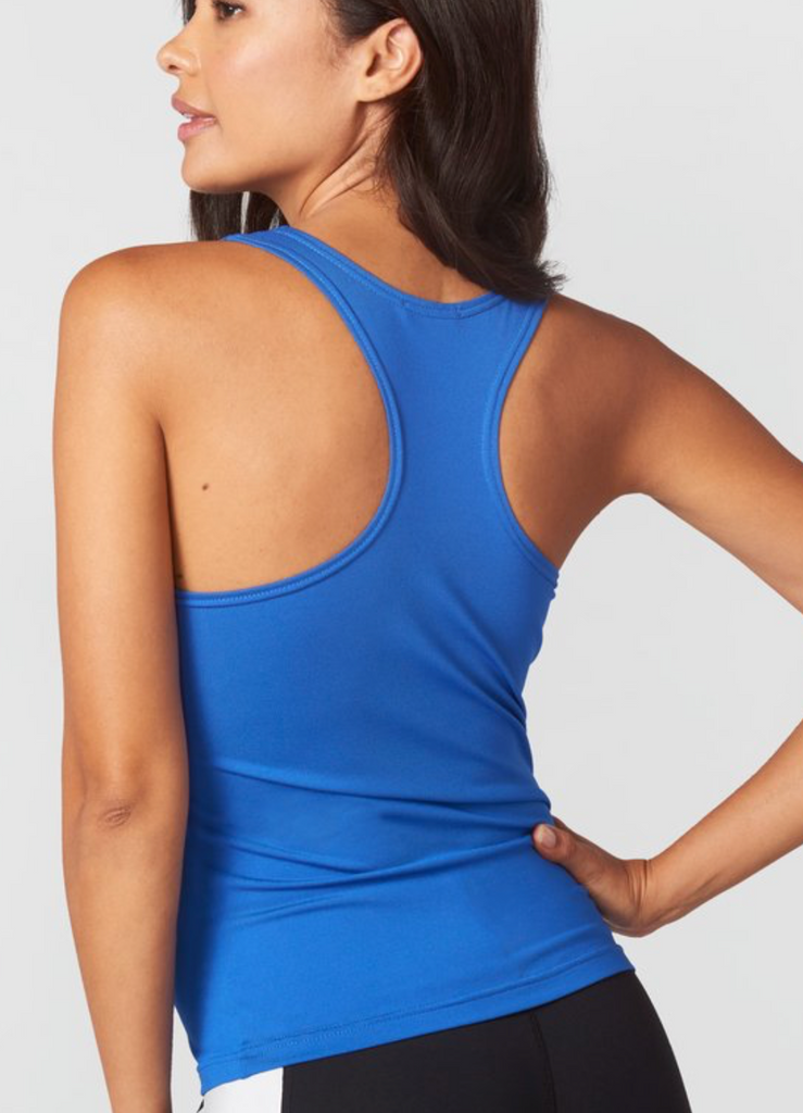 Blue Fitted Racerback